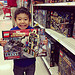 Late night shopping - just Jubee and I. Jubee loves Legos.